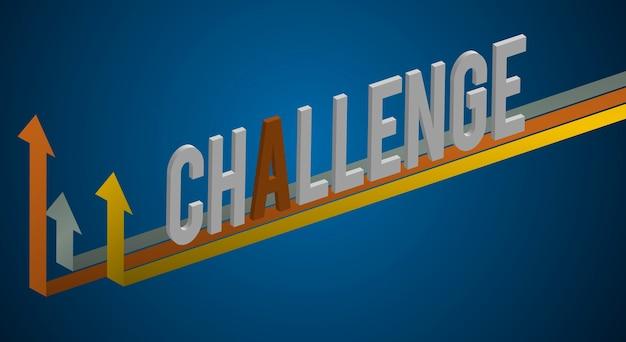 Concetto grafico di miglioramento di parola di sfida
