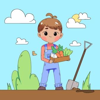 Concetto illustrato di agricoltura organig