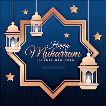 Concetto islamico dell'illustrazione del nuovo anno