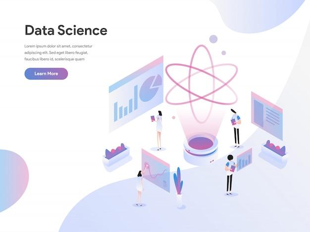 Concetto isometrico dell'illustrazione di scienza di dati