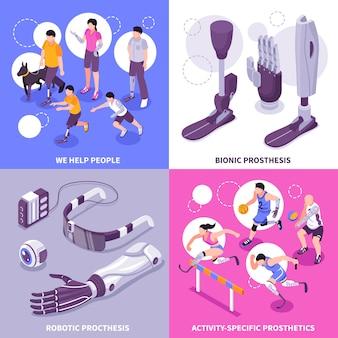 Concetto isometrico della protesi bionica