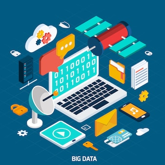 Concetto isometrico di big data