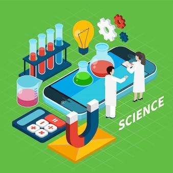 Concetto isometrico di chimica