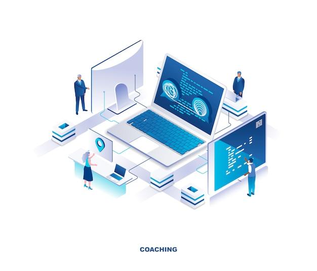 Concetto isometrico di coaching aziendale
