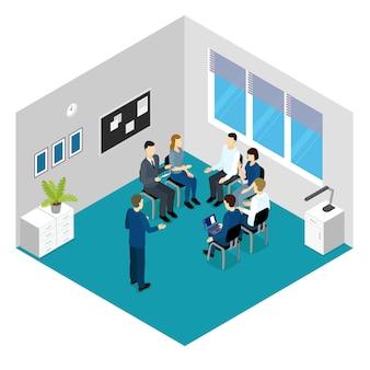 Concetto isometrico di formazione del personale