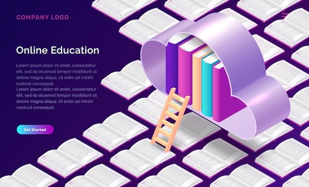 Concetto isometrico di formazione online
