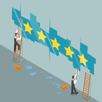 Concetto isometrico piano di valutazione di cinque stelle