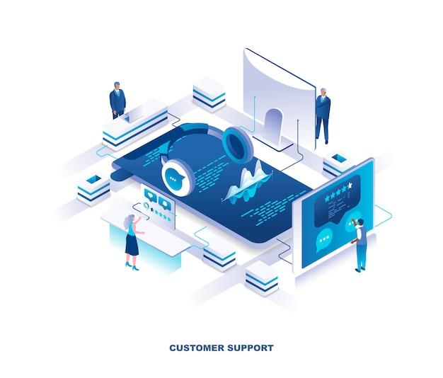 Concetto isometrico servizio clienti o supporto tecnico