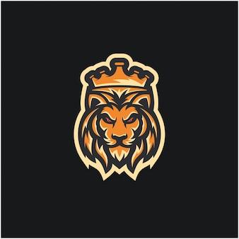 Concetto logo di lion king