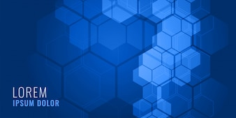Concetto medico del fondo di forma esagonale blu