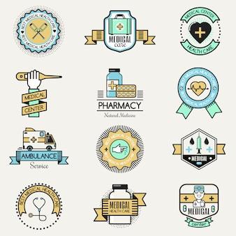 Concetto medico del logotype di sanità di concetti di carità dei modelli di progettazione del distintivo di logo di cura della clinica dell'ospedale del centro familiare
