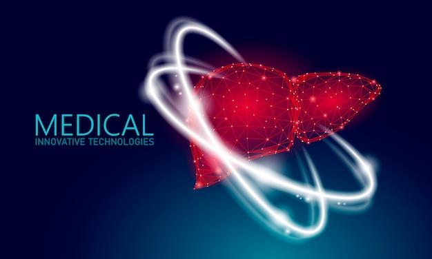 Concetto medico di terapia di ricostruzione del fegato umano.
