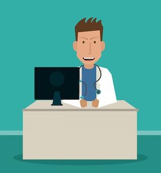 Concetto medico, medico e sanitario