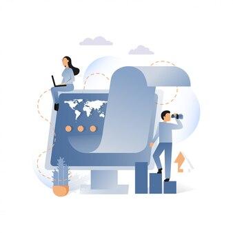 Concetto metaforico di vettore di affari per l'insegna di web, pagina del sito web