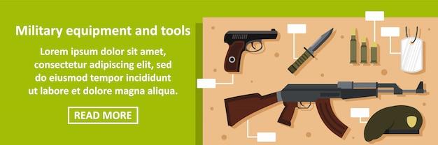 Concetto militare dell'insegna di strumenti e dell'attrezzatura orizzontale