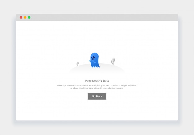 Concetto moderno di design piatto di fantasma, la pagina non esiste per sito web e sito web mobile. modello di pagina degli stati vuoti