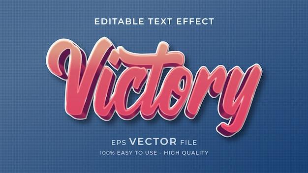 Concetto modificabile di effetto del testo di retro stile di vittoria