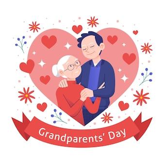 Concetto nazionale disegnato a mano di giorno dei nonni degli sua