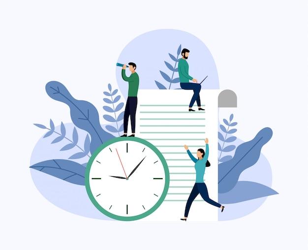 Concetto o pianificatore del programma di gestione del tempo