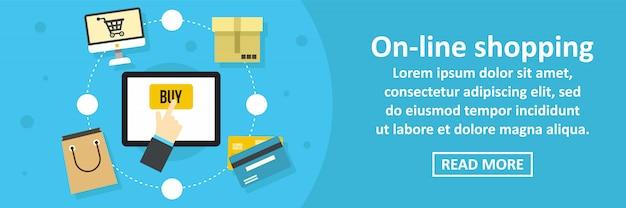 Concetto online di modello orizzontale dell'insegna di acquisto