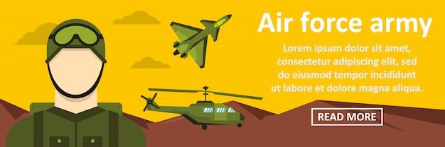 Concetto orizzontale dell'insegna dell'esercito dell'aeronautica