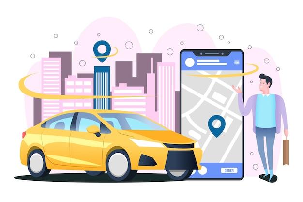 Concetto per app taxi