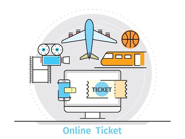Concetto per il servizio di biglietteria online