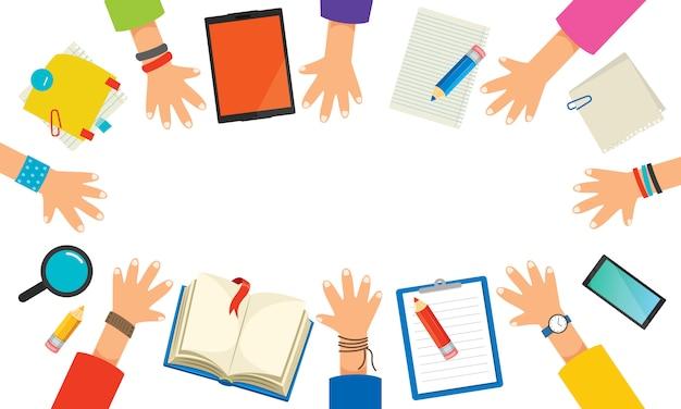 Concetto per l'istruzione o il marketing digitale