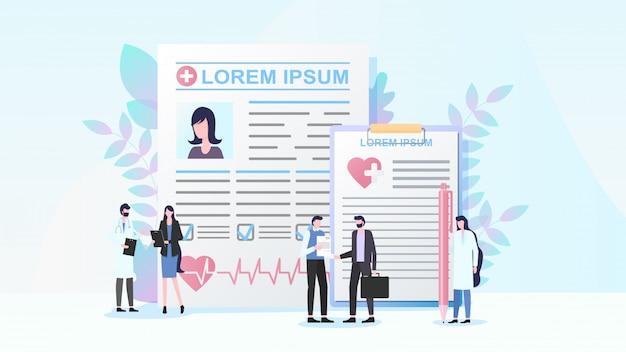 Concetto piano di vettore del programma dell'assicurazione malattia