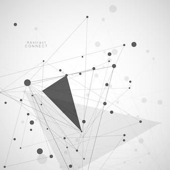 Concetto poligonale con linee di connessione e punti