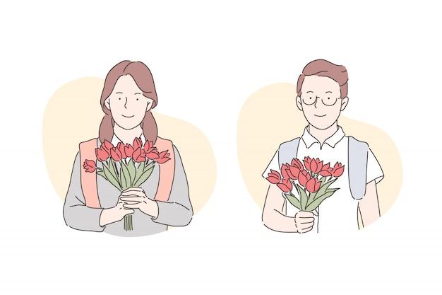 Concetto presente di san valentino congratulazioni