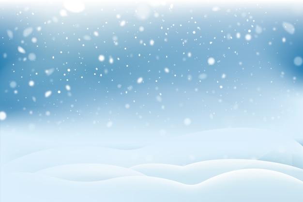 Concetto realistico del fondo delle precipitazioni nevose