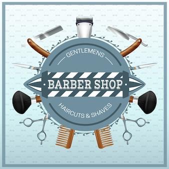 Concetto realistico del negozio di barbiere