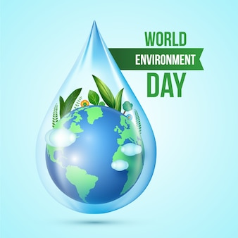 Concetto realistico di giornata mondiale dell'ambiente