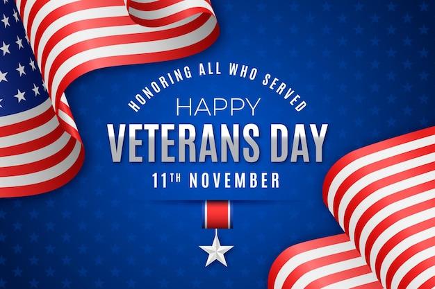 Concetto realistico di giorno dei veterani