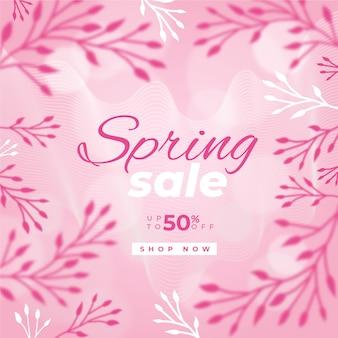 Concetto sfocato per la vendita di primavera