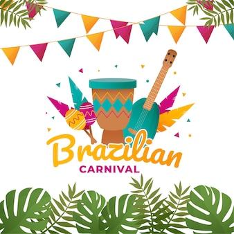 Concetto tematico di carnevale brasiliano