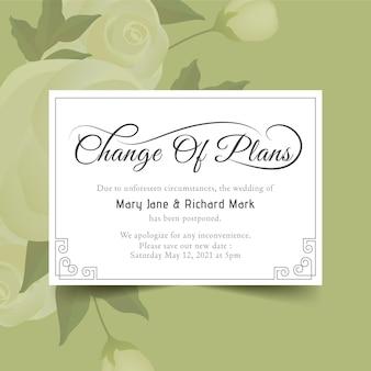 Concetto tipografico rinviato della partecipazione di nozze
