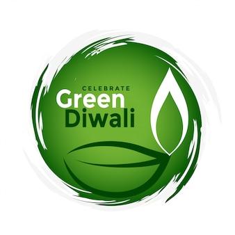 Concetto verde organico di celebrazione di festival di diwali
