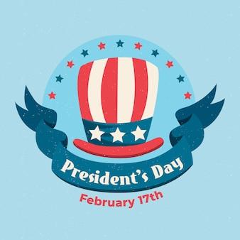 Concetto vintage per il giorno dei presidenti