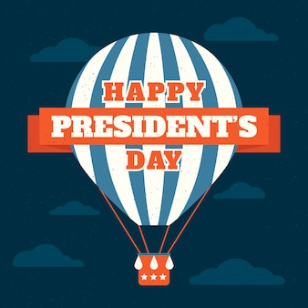 Concetto vintage per il giorno del presidente