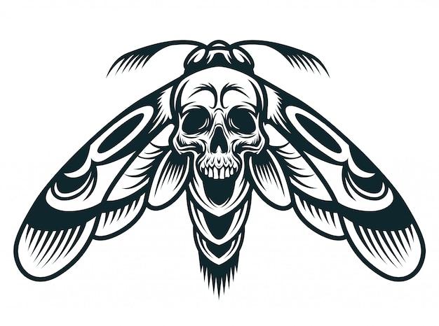 Concetto vintage vespa monocromatica