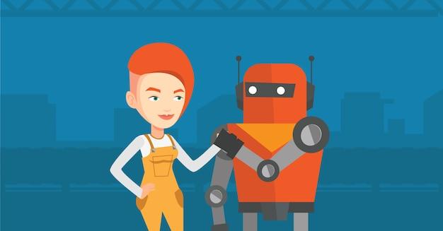 Concorrenza tra robot e umano.