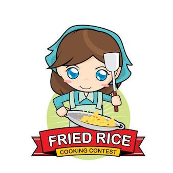Concorso di cucina con riso fritto