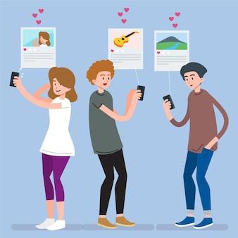 Condivisione di contenuti sui social media