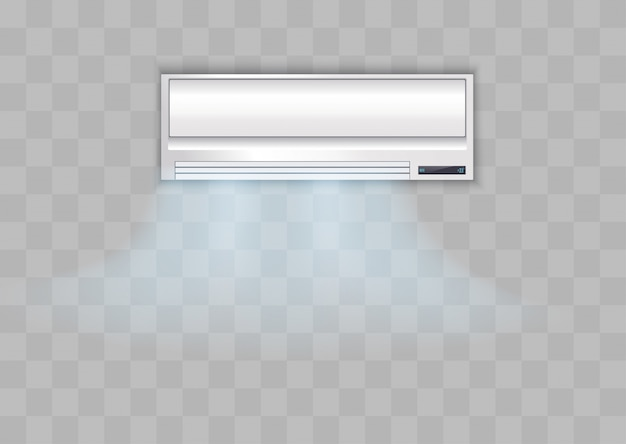 Condizionatore bianco su uno sfondo trasparente,.