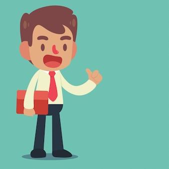 Condizione dell'uomo d'affari posa di posizione sicura di gesti e di gesti
