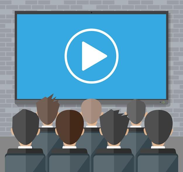 Conferenza online. riunione internet, videochiamata