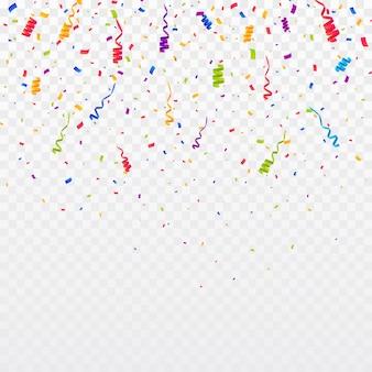 Confetti di colore di sfondo. celebra l'illustrazione di vettore del partito