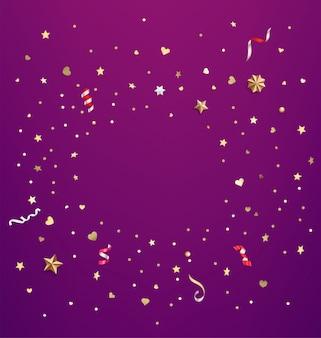 Confetti di stelle e cuori.